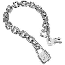 white gold bracelet with charm images Louis vuitton white gold charm large link bracelet at 1stdibs jpeg