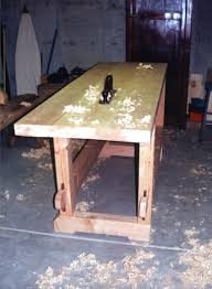 Woodworking Bench Top Surface by Workbench Construction Part 2