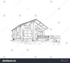 building drawing pencil sketch stock vector 146386880 shutterstock