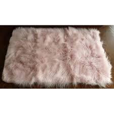 Bare Skin Rug Home Dynamix Silky Sheepskin Fur Rug Pink Walmart Com