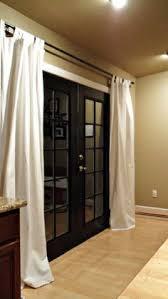 hanging curtains over sliding glass door simple u0026 cozy basement tour farmhouse style basements and cozy