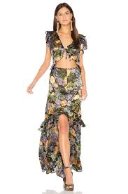 maxi dress for lemons luciana maxi dress in black floral revolve