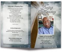 funeral program covers funeral bulletins templates memorial service bulletins cover