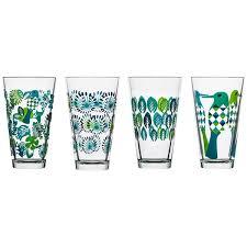 Spode Christmas Tree Martini Glasses Set 4 by Amazon Com Sagaform 5016459 Fantasy Glasses Large Blue 4 Pack
