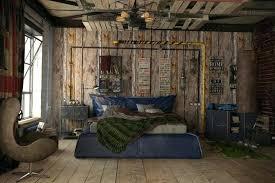 chambre style loft industriel idées décoration intérieure