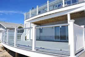 glass railing system glass deck railing