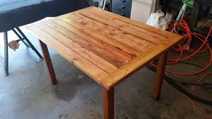how to build a patio table rustic table made from scrap wood great patio table easy to make