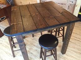36 Square Rustic Entertainment Bar Table Bar Height Table High