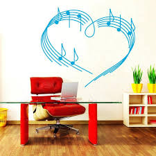 wall ideas dulcet musical notes staff vinyl wall stickers