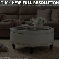 Coffee Table With Storage Ottomans Underneath Round Coffee Table With Drawers Coffee Tables Decoration