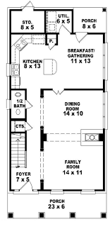 narrow home plans small lot city house plan 1 floor