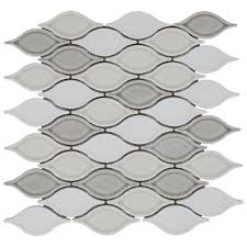 Floor And More Decor Gray Blend Tear Drop Porcelain Mosaic 12 1 2in X 12 1 2in