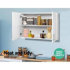 kitchen wall cabinet load capacity cefito wall cabinet storage bathroom kitchen bedroom cupboard organiser white afterpay clearpay sezzle quadpay laybuy aromadonna au