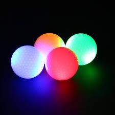 light up golf balls forfar 2pcs night tracker flashing light up glow golf balls led