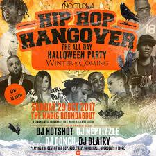 hip hop hangover halloween party magic roundabout london