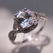 gemstone wedding rings images Luxury wedding ring 2 carat cushion cut sona synthetic gemstone jpg