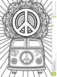 hippie van drawing beautiful card vector stock vector image 66806523