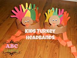 easy thanksgiving arts crafts turkey headband craft tierra