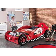 childrens car beds boys red racing kids car bed frame amazon co