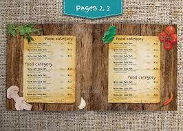 modern retro menu template by kreatorr graphicriver