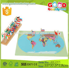 World Map With Flags Educational Montessori Geography Flag Stand World Map With Flags