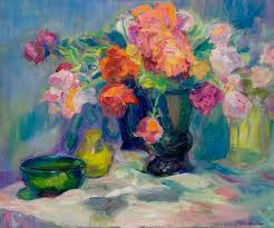 flowers painting fiesta of flowers vibrant original impressionist oil painting by quin sweetman