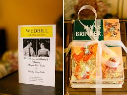 playbill wedding program tim megan s offbeat literature themed wedding in