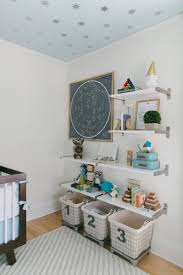 Baby Nursery Decoration by Baby Nursery Room With Wall Shelves And Wire Bins Decorate Your