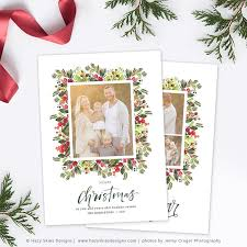 christmas card template christmas card printable photo card hc312