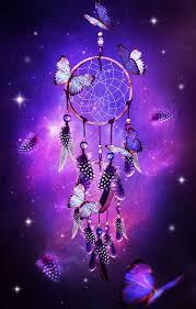 dream catcher with butterflies u0026 purple background purple a