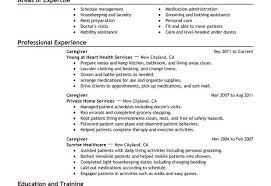 Resume Examples For Caregivers Caregiver Resume Cronjob Billybullock Us