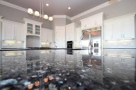 blue pearl granite with white cabinets pearl granite beach style united states with contemporary refrigerators