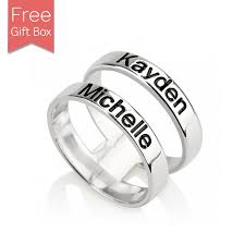 mothers ring with names customized layered name ring s ring rsnamenecklace