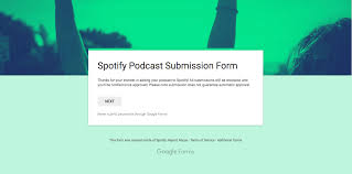 submit submit your podcast to spotify step by step guide