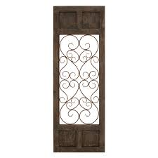 woodland imports 52792 classic metal and wood decorative wall