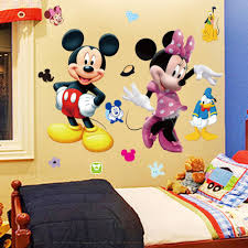 online get cheap our little prince wall stickers aliexpress com 3d cartoon mickey and minnie mouse wall stickers kids baby nursery bedroom decals home decor the