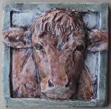 beef cow ceramic tile 4x4