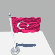 Turkey National Flag 3d Model Turkey Flag Cgtrader