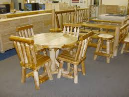 Log Dining Room Table by Bare Furniture Big Rapids Mi Kitchen