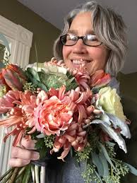 fine art wedding bouquet included in real maine wedding magazine