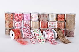 christmas wired ribbon christmas ribbon wholesale christmas ribbons in bulk