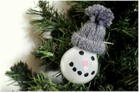 diy christmas ornaments snowman the grey