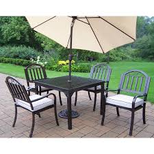 oakland living elite all weather wicker patio dining set oakland
