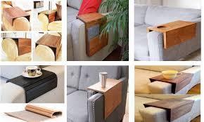 d i y wooden sofa arm table decor units