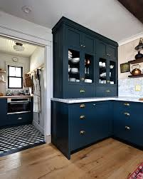ikea navy blue kitchen cabinets navy kitchen with a stunning built in semihandmade