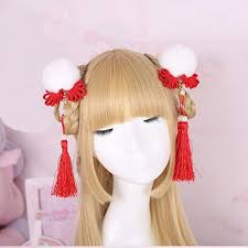 japanese hair accessories kawaii japanese fur pearl hair sd01972