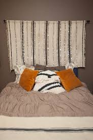 How To Hang Pictures On Wall by How To Hang A Wedding Blanket As A Headboard U2013 Style Files