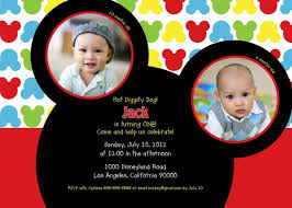 template classic baby mickey mouse 1st birthday invitations