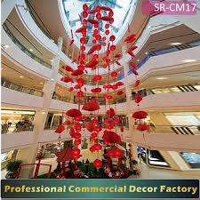 customize indoor commercial mall lantern and fan