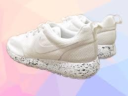 nike roshe design factory direct nike roshe one all white with oreo design splatter